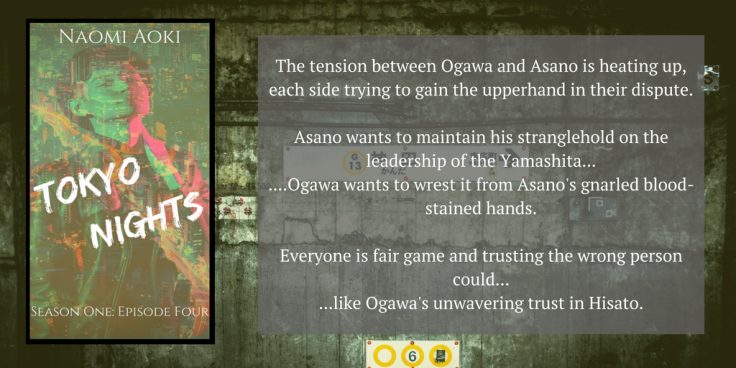 The tension between Ogawa and Asano is heating up, each side trying to gain the upperhand in their dispute.Asano wants to maintain his stranglehold on the leadership of the Yamashita....